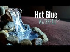 """Hot glue Waterfall Tutorial ღ (Additional idea from commenter Ryan Tollmann: """"i added a small blue led for effect"""") Floating Tea Cup, Glue Gun Crafts, Fairy Crafts, Fairy Furniture, Fairy Garden Accessories, Fairy Doors, Miniature Fairy Gardens, Fairy Houses, How To Make"""