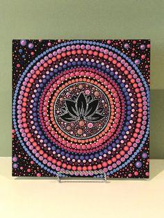 Your place to buy and sell all things handmade Mandala Art, Mandala Rocks, Mandala Painting, Mandala Design, Arte Tribal, Dot Art Painting, Mandala Coloring, Rock Art, Wall Collage