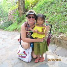 Me in Vietnam. This little girls father wanted a picture of me with his daughter.
