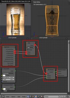 light paths cycles - http://www.blenderguru.com/tutorials/make-beer-blender/