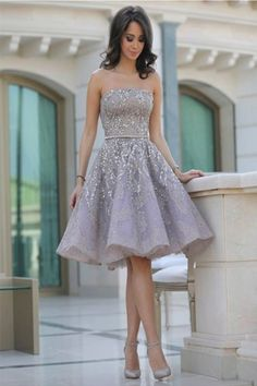A-line short prom dress, unique New Popular Homecoming Dress, FS3054