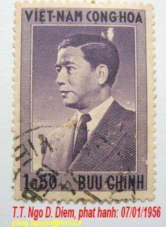 postage stamp - vietnam 1956