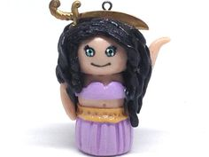 MINI Tiny Belly Dancer Balancing A Sword by ParadiseVintageJewel