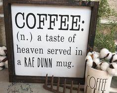 Rae Dunn inspired sign - Rae Dunn sign- wooden sign - Rae Dunn - coffee - wood sign - farmhouse decor - coffee house decor -