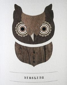 Riesling from the 'Two Hoots' series by Maegan Brown