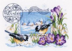 Buy Winter Stamp Cross Stitch Kit online at sewandso.co.uk