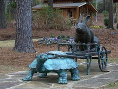 The turtle like a horse statue