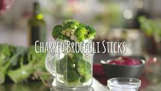 It used to be that when you burned food you had ruined it. But one of the biggest food trends this year is charring.it gives your vegetables an edge and delivers a vibrant flavour Charred Broccoli, Burnt Food, Big Meals, Food Trends, Kiwi, Sticks, Herbs, Entertaining, Foods