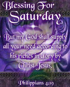 Happy Saturday Blessings | Saturday Blessing♥♡ More