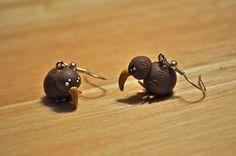 Polymerclay Kiwi Birds Earrings by Misty-Dawn