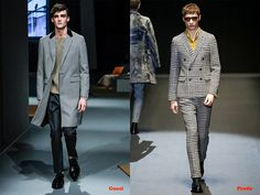 Tendencias hombre otoño/invierno 13/14 tejidos Pata de Gallo: Gucci y Prada.
