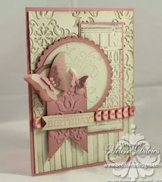 Love all the different embossing & vintage feel to this card