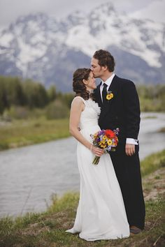 Real Wedding: Laura and Greg's National Park Elopement. Wow, what a wonderful wedding in the Grand Teton NP! Great site, great story...click through and check it out!