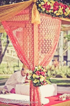 Flowers 4 Hair Malai Saram Garland Bollywood Indian Bridal Strand Crimson Purple