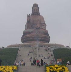 Guan Yin at Mount Xiqiao of Nanhai district, Guangzhou, China