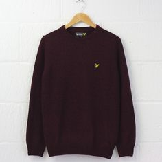 Lyle and Scott Crew Neck Mouline Pullover (Claret Jug) #lyleandscott #knitwear #cableknit #newentrystore