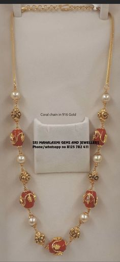 Gold Bangles Design, Gold Jewellery Design, Bead Jewellery, Ruby Necklace Designs, Beaded Jewelry Designs, Ruby Jewelry, India Jewelry, Bridal Jewelry, Diamond Jewelry