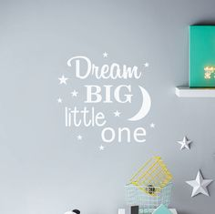 'dream big little one' wall sticker by nutmeg | notonthehighstreet.com
