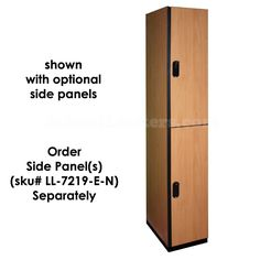 Double Tier Wooden Lockers for sale! These are extremely durable and resistant to moisture, stains and abrasions. Feature coat rods and two double-prong clothing hooks. Available in Natural Wood, Medium Wood, Dark Wood and Black. White Wood, Dark Wood, Lockers For Sale, Wooden Lockers, Kids Locker, Wood Colors, Mudroom, Storage Organization, Natural Wood