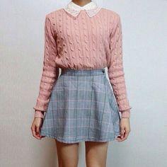 Imagem de pink, outfit, and skirt