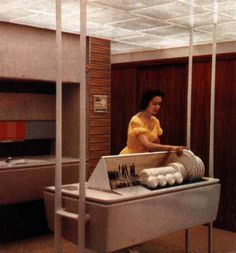 Getting ready to set the table in the Monsanto house of the future in 1957 Disneyland (16 photos).