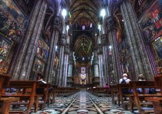 Inside the Duomo in Milan, Italy, most beautiful place to go for a date in this city. I was privileged to experience this with someone I still care about very much, but our paths will likely never cross again.