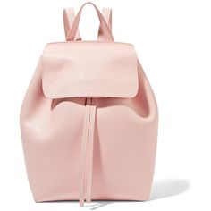 Mansur Gavriel Mini leather backpack ($820) ❤ liked on Polyvore featuring bags, backpacks, accessories, leather backpack, day pack backpack, mini backpacks, leather bags and miniature backpack