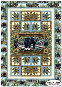 Bear Counry Free Quilt Pattern by Quilting Treasures