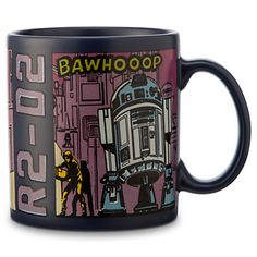 R2-D2 Comic Strip Mug - Star Wars (I actually own this mug, and it is very big, and sturdy!) :D