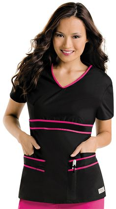 Scrubs, Nursing Uniforms, and Medical Scrubs at Uniform Advantage Cute Scrubs Uniform, Cute Nursing Scrubs, Scrubs Outfit, Black Scrubs, Medical Uniforms, Nursing Uniforms, Uniform Advantage, Medical Scrubs, Scrub Tops