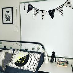 """11 Likes, 1 Comments - Noah&Ness (@noahandness) on Instagram: """"The short Black, White and Silver. #homestyle #bunting #childrensinteriors #childrensrooms…"""""""