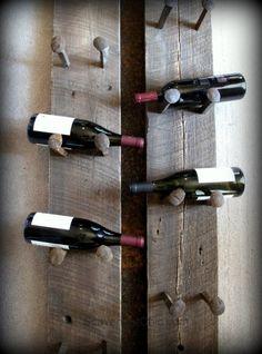 Railroad Spike Wine Rack diy - Scavenger Chic