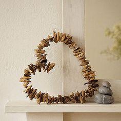 driftwood art heart