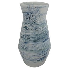 Marbled Vase White/Blue Medium - Threshold™ : Target