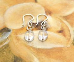 Clear Quartz Earrings Wire Wrapped Natural by StellaZigantiDesigns, $29.00