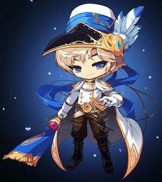 Maple Story - Phantom Funny Yugioh Cards, Story Characters, Fictional Characters, Graffiti Font, Kawaii, Character Drawing, Anime Chibi, Game Art, Illustration Art