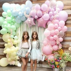 Pastel Rainbow Balloon Arch and Garland Kit Pretty pastels. Perfect for birthdays, Easter parti Rainbow Balloon Arch, Unicorn Balloon, Balloon Garland, Balloon Decorations, Birthday Party Decorations, Balloon City, Pastel Party Decorations, Balloon Arch Diy, Unicorn Themed Birthday
