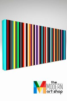 Modern Wall Art Stripes - Large Canvas Print - Line Art - Colorful Living Room Wall Decor Ideas - #canvas #colorful #large #living #modern #print #stripes - #LinesQuotes