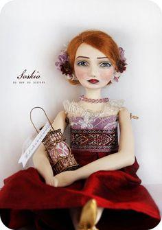 "Art Doll ""Saskia""~Image © Christine Alvarado, 2009."