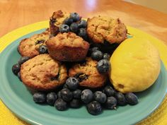 Grain Free Lavender Blueberry Lemon Muffins #Breakfast #CleanEating