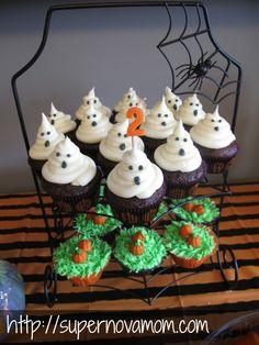 halloween birthday cupcakes
