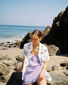 """The Victoria dress is a short slip dress featuring a slight v-neckline. Italian for """"sketch"""", the Schizzo print is our periwinkle blue sketch print. Fashion Week, Look Fashion, 90s Fashion, Fashion Outfits, Woman Outfits, Hawaii Fashion, Greece Fashion, Celebrities Fashion, Looks Style"""
