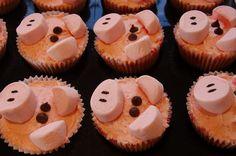 Easy piggy cupcakes