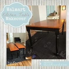 walmart kitchen table makeover - after better homes and garden