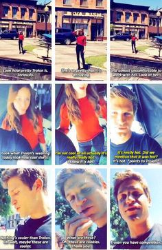 Troian Bellisario and Keegan Allen. ❤️