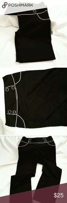 Black Pants Very cute pants and great condition size 8 not sure i had them on more then 2 times. coletane Pants