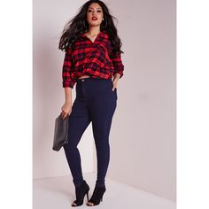 Formation High Waist Olive Cut Out Skinny Leg Jeans Plus Size ...