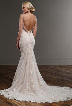 backless Martina Liana Wedding Dress