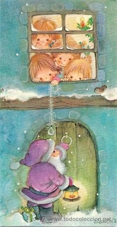 Christmas Images, Christmas And New Year, Christmas Time, Merry Christmas, Sarah Kay, Holly Hobbie, Illustrations, Big Eyes, Paper Dolls