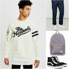 Casual Sweatshirt Outfit |  Shop now at The Idle Man | #StyleMadeEasy Outfit Shop, Classic Wardrobe, Mens Style Guide, The Hundreds, Sweatshirt Outfit, Mens Sweatshirts, Simple Style, Style Guides, Joggers